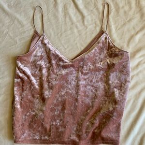 H&M divided velvet tank top